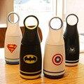 2016 новый супер герой бэтмен человек-паук из нержавеющей стали вакуумные чашки термос кружка прохладный мстители бутылку воды рождественский подарок