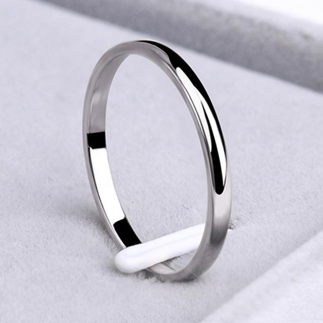 Cacana Titanium Stainless Steel Cincin Rose Emas Anti Alergi Sederhana Halus Pernikahan Pasangan Cincin Perhiasan untuk Pria atau Wanita #32889518700