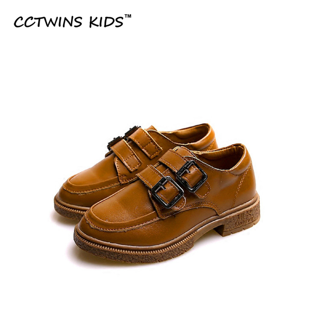 CCTWINS KIDS 2017 spring autumn girl strap shoe toddler fashion flat for baby boy genuine leather shoe children brand kid flat