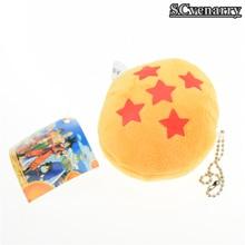 Dragon Ball Z Plush Crystal Balls 1-7 Stars Toy with Keychain Pendant