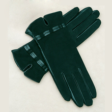 KLSS Brand Genuine Leather Women Gloves High Quality Goatskin Suede Gloves Winter Plus Velvet Elegant Lady Sheepskin Glove W96
