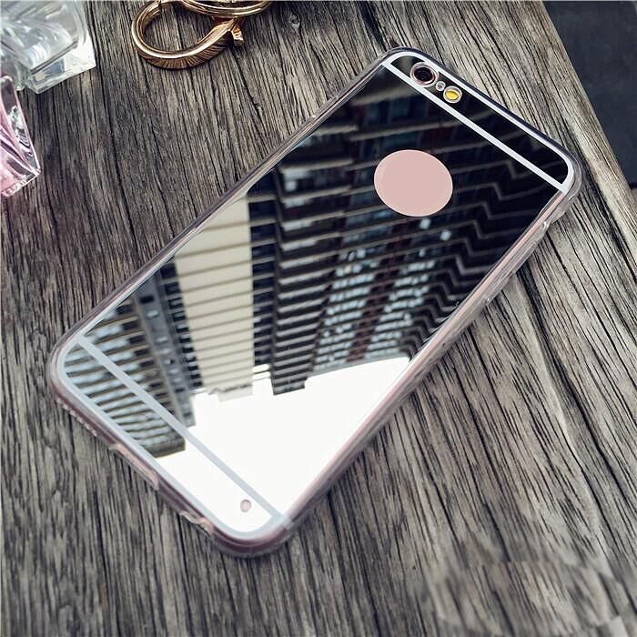 Luxury Mirror Flash Fashion Case For iPhone 7 7plus 6 6S Plus Soft Clear Soft TPU Silicon Cover Bag Cases For iPhone 6plus 6S 5S