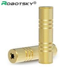 Robotsky 3.5mm adaptador de áudio fêmea para fêmea banhado a ouro 3.5mm cabo extensão áudio para fone ouvido telefone som