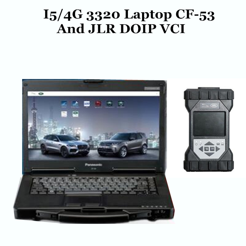 US $1599 0 |2019 for Jaguar and For Land Rover full set car diagnostic  tools JLR DOIP VCI obd 2 Connector and Laptop CF53 with Software HDD on