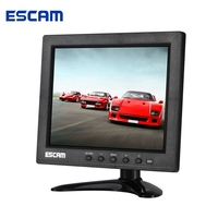 ESCAM T08 8 inch TFT LCD 1024x768 Monitor with VGA HDMI AV BNC USB for PC CCTV Security Camera
