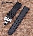 Red stitch thread Fashion stylish Carbon fiber pattern watch band straps 18mm 20mm 22mm 24mm watches men