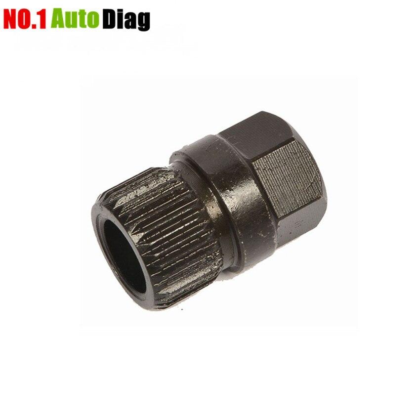 Heißer Verkauf Hohe Qualität Lichtmaschine Kupplung Freies Rad Pulley Entfernung Schlüssel 33 Zähne Spline Werkzeug Kostenloser Versand Ausgereifte Technologien