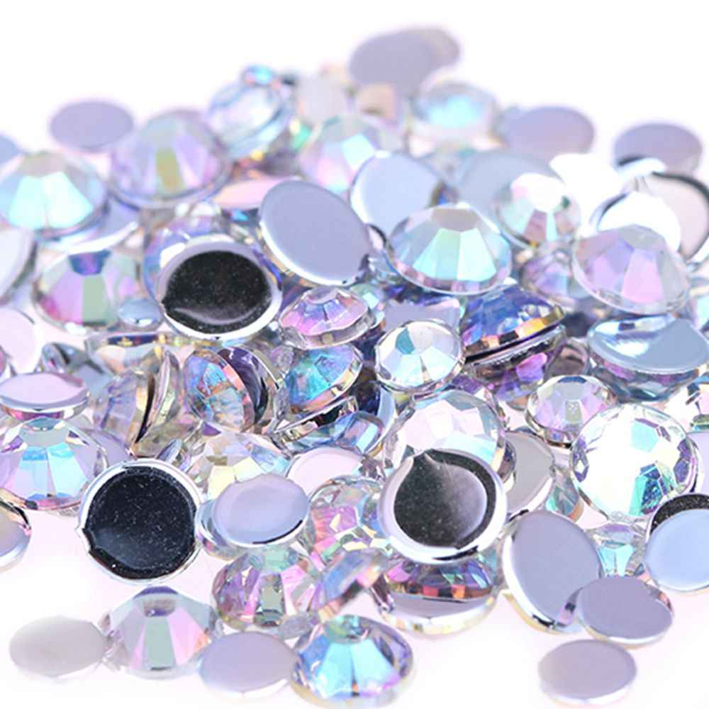 f89aa0d48d 1.5mm-6mm AB Color Round Flatback Acrylic Rhinestones Face Gems Shoes  Clothing Decorations Sparkling Jewelry & Accessories Beads