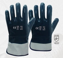 Oil and Gas Safety Glove Heavy Duty Cotton Jersey With Nitrile Coated Work Glove evans b14hdd 14 genera heavy duty dry coated