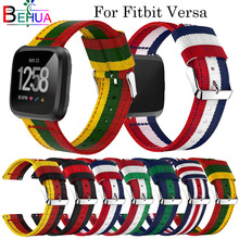 Nylon smart strap For Fitbit Versa watch Replacement Adjustable Sport Wristband bands fitbit versa Lightweight