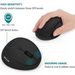 Image 4 - Jelly Comb Ergonomic Mouse Right Hand 2.4GHz Wireless Vertical Mouse for PC Laptop Optical Mice 800/1200/1600 DPI  6 Buttons