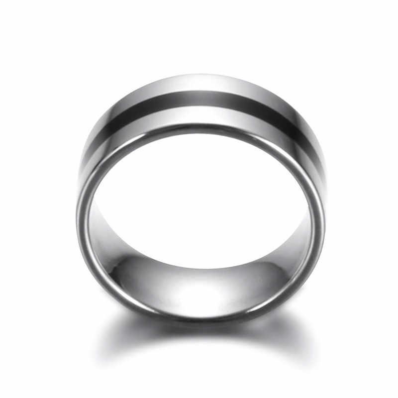 Yobest ใหม่ Punk แหวนนิ้วมือสแตนเลสสตีลแหวนเคลือบสแตนเลสหมั้นแหวนแต่งงานแหวนสำหรับผู้ชายผู้หญิง