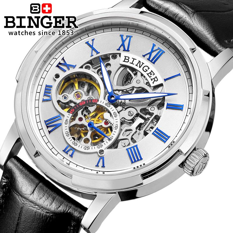 Switzerland watches men luxury brand men watches BINGER luminous Automatic self-wind full stainless steel Waterproof B5036-3 ласты mad wave training размер 43 44 blue m0747 10 7 04w