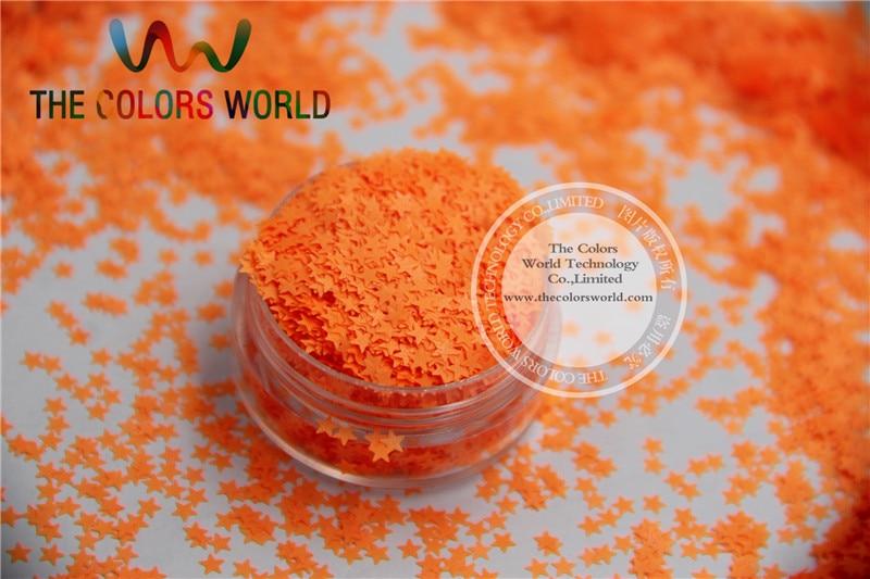 Solvent resistant Sparkles- Orange  Red Color Stars-shaped Glitter Confetti for Nail Polish and DIY decoration 1Pack =50g пена монтажная экон 60 профессиональная henkel 750 мл