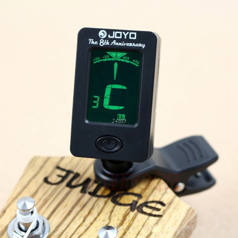 цена на Clip On Chromatic Electronic Guitar Bass Ukulele LCD Digital Tuner JUL_17