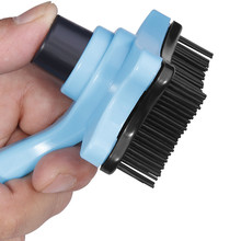Pet Grooming Supplies Dog Shedding Comb One Button Hair Removal Plastic Soft Teeth Do Not Hurt Skin Cats Dogs Brush