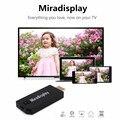 Original Miradisplay TV Dongle 2.4 GHz WiFi Miracast Airplay Chromecast DLNA TV Para iOS Android Media Player HDMI Para Win7