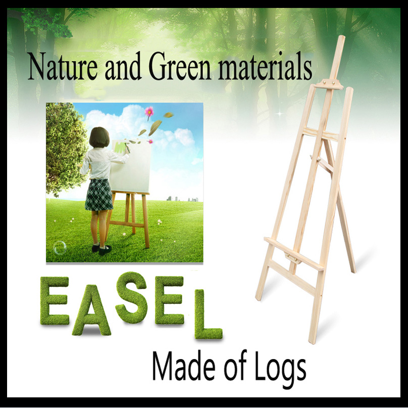 145cm log Painting Easel Sketch Easel Frame Artist Adjustable Tripod Display Shelf Outdoors Studio 40cm mini artist wooden table folding painting easel frame adjustable tripod display shelf outdoors studio display frame act012
