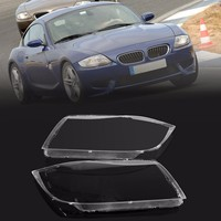 Pair Car Front Headlight Covers Headlamp Clear Lens ABS Plastic Cover For BMW E90 E91 2004