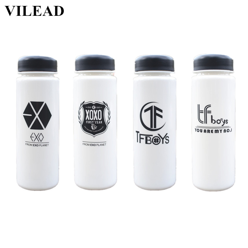 VILEAD Plastic EXO Water Bottle Portable Sport Lemon Juice Shaker BPA Free Drinking Bottle with Tea Filter Summer Outdoor Bottle