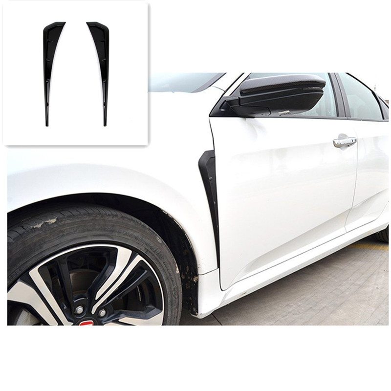Car Front Air Vent Fender Side Cover Trim Sticker Fit for Honda Civic 10th 2016 2017 2018 Car Exterior Accessories Styling stainless steel car front wheel fender air vent cover trim anti scratch car body sticker for mini cooper clubman f54 car styling