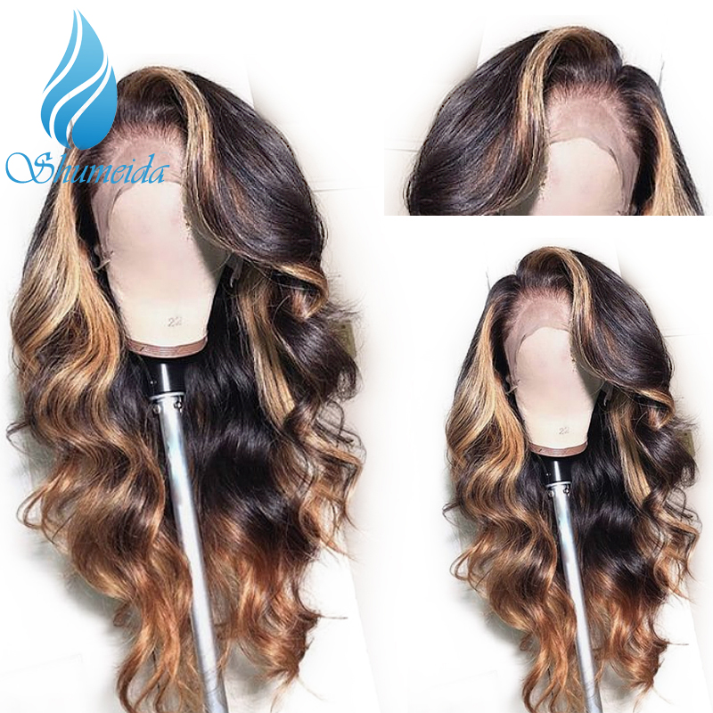 SHD 13 6 Lace Frontal Human Hair Wigs With Baby Hair Pre Plucked Brazilian Remy Human