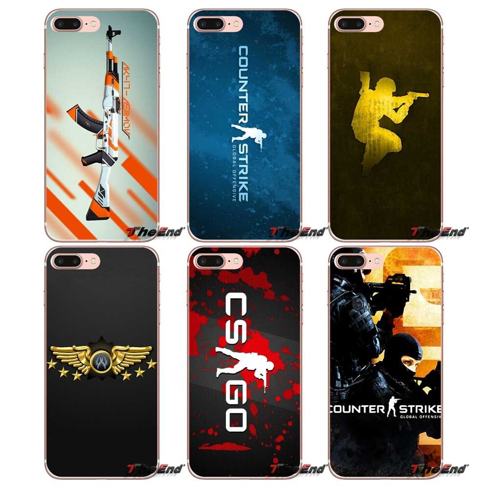 Para o iPhone Da Apple X 4 4S 5 5S SE 5C 6 6 S 7 8 mais 6 Mais 7 mais 8 mais Fundas Coque counter strike CS IR armas Cartaz Soft Case