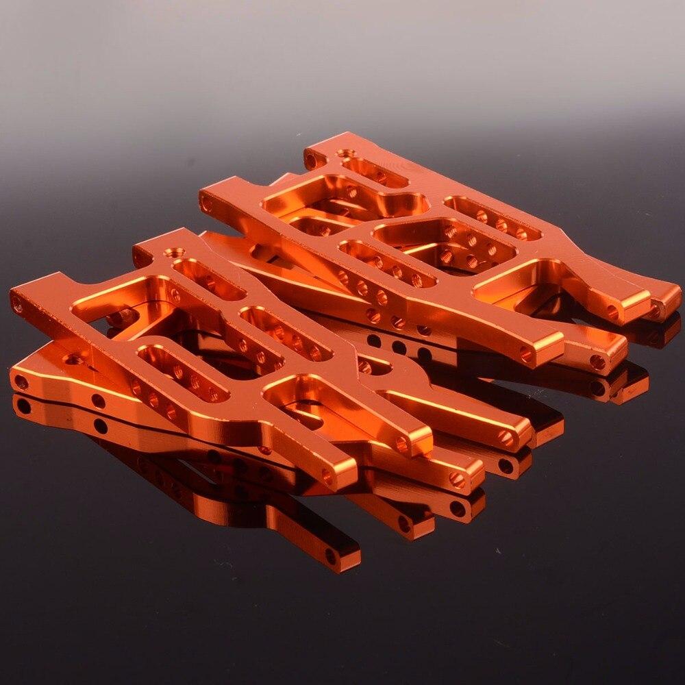 Orange Aluminum BMT0004 Front Lower Suspension Arm BMT0005 Rear Lower Suspension Arm For HPI 1/10 Bullet 3.0 FlUX/ST/MT