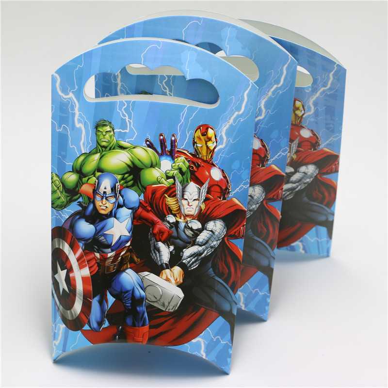 10pcs Lot Party Supplies Birthday Avengers Alliance French Fries Box Theme Decoration Paper Gift Bag Candy On Aliexpress Alibaba Group