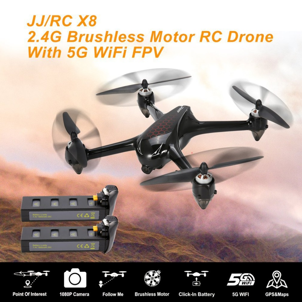JJR/C X8 RC Helicopter 2.4G Brushless Motor RC Drone With 5G WiFi FPV 1080P HD Camera GPS Professional Quadcopter Drone RC Model