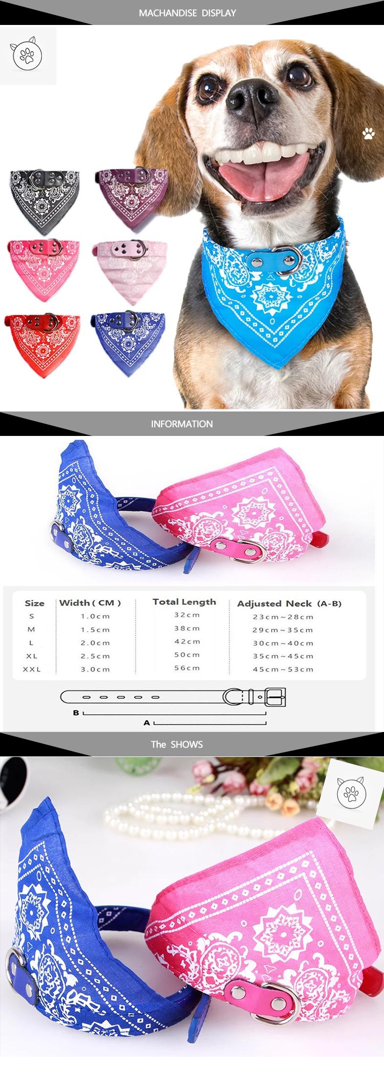 Collar ajustable con paliacate para mascota. 1