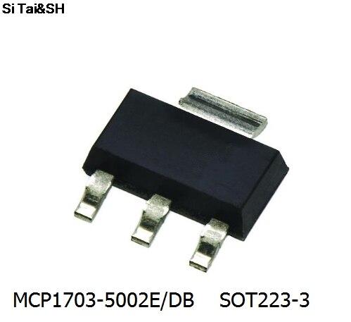Бесплатная доставка; 5 предметов/партия MCP1703-5002E/db MCP1703 СОТ-223 Управление микросхема новый оригинальный