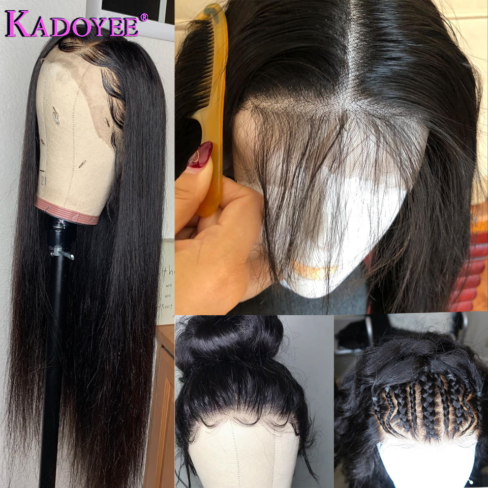 Brazilian Straight Lace Front Human Hair Wigs Pre Plucked Wig With Baby Hair Remy Hair 13
