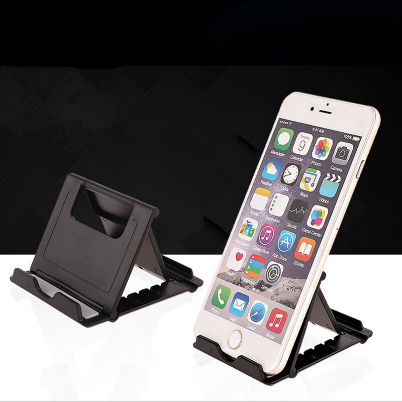 Image 5 - HOTR Universal Desk Holder Tablet Mobile Phone Holder with Shock proof Silicone Pad Strong Plastic Cell Phone Holder Stand Mount-in Phone Holders & Stands from Cellphones & Telecommunications