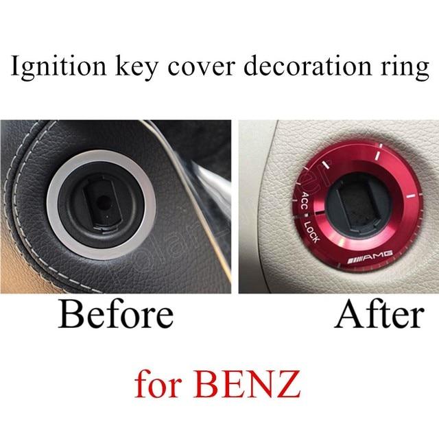 Лучшая цена продажи 3 цветов для варианта Автомобиля Переключатель Зажигания крышка наклейки Кольцо Для B-ENZ Аксессуары