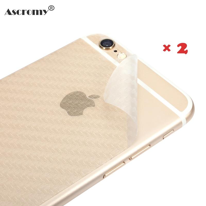 Ascromy 2 unids ambiental carbon fiber case para iphone 6 6s 5 5S 7 plus protect