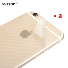 Ascromy 2pcs Environmental Carbon Fiber Case for iphone 6 6s 5 5S 7 Plus Screen Protector Film 3D Back Cover Phone Accessories(China)