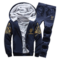 Mens Tracksuits 2016 Brand Sweatshirt+Sweatpants Hip Hop Hoody Hoodies Winter Warm Thick Fleece Male Jackets High Quality New