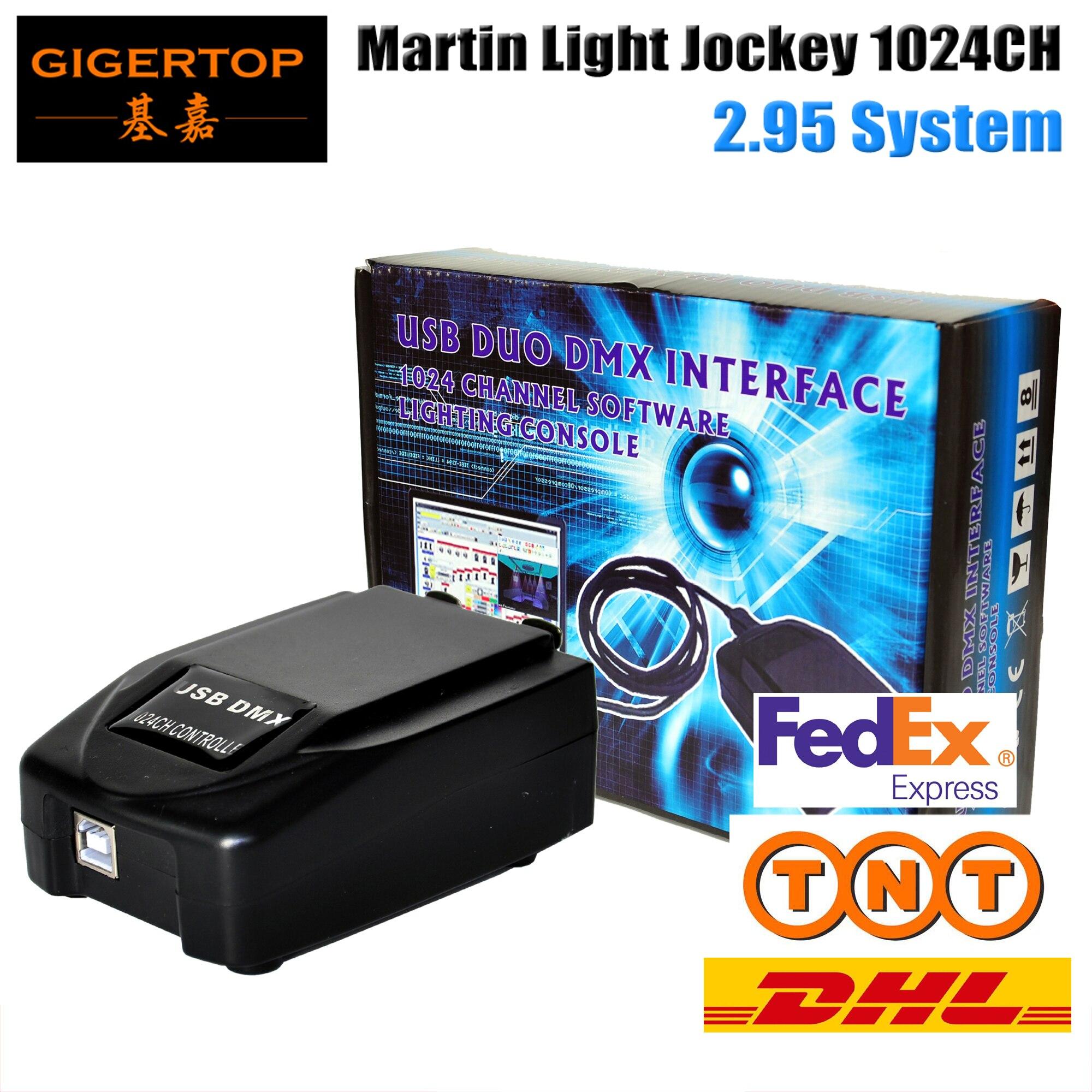 Livraison gratuite Martin lumière jockey USB 1024 DMX 512 contrôleur DJ, Martin lightjockey 3 broches 1024 USB DMX contrôleur led lumière de scène