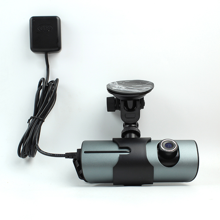 ФОТО Dual Camera Car DVR R300 with GPS and 3D G-Sensor 2.7