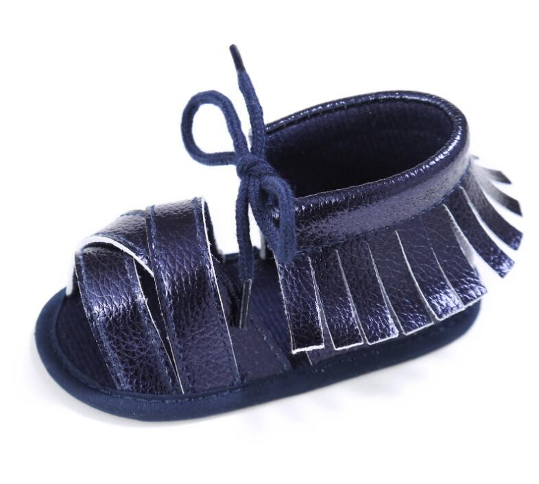 0-18M Summer Baby Girls sandals PU leather First Walkers moccasins soft sole Fashion Breathable Hollow Out Newborn Cack Shoes