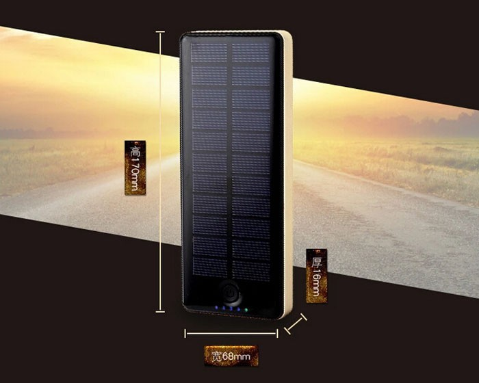 solar panel power bank 20000 mah 8