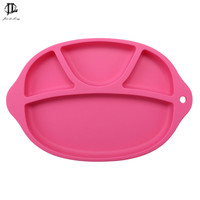 Baby Bowl 100% Silicone Placemat Separated Design Suction Plate Slip resistant Kid Snack Dinner Plate Baby Feeding Bowl