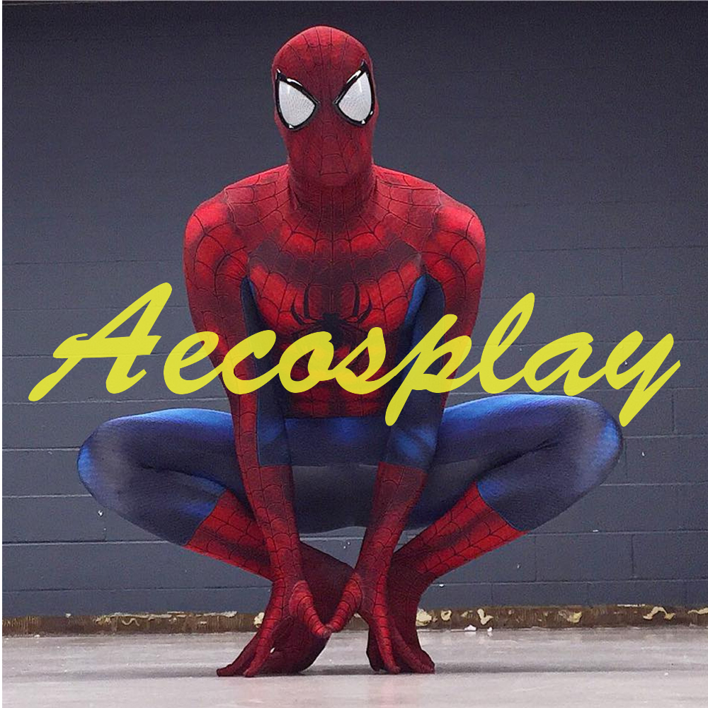 3D Printing The Amazing Spider-Man Cosplay Costume Spiderman Costume Fullbody Zentai Suit Superhero Halloween Costumes for Men