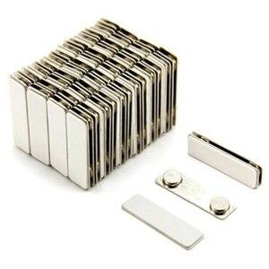 Image 1 - 50pcs ชื่อป้าย ID ผู้ถือ strong fastener แม่เหล็กชื่อ: