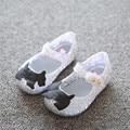 2016 Новый стиль пляж обувь дети дети мерцание желе обувь летом кристалл отверстие zig zag Мини Девушка обувь 3 цвета