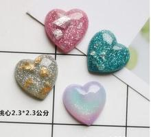 Heart DIY  Resin Accessories Mobile Phone Shell Material Refrigerator Stickers Home Decoration