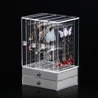 Acrylic High Quality Velvet Jewelry Display box Holder Pendant Ring Earring Jade Pendan Stand Jewelry Storage Organizer