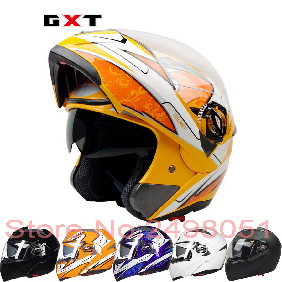 2017 New GXT open full motorcycle helmet double lens undrap face motorbike helmets with anti-fog lens made of ABS size L XL G158 2017 new ece certification ls2 motocross motorcycle helmet ff352 full face motorbike helmets made of abs and pc silver decadent