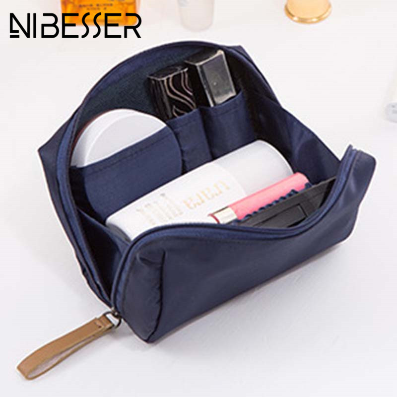NIBESSER Fashion Waterproof Makeup Bag Nylon Travel Cosmetic Pouch Organizer Beauty Bag  ...